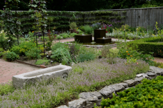 Walled garden with herbs and flowers