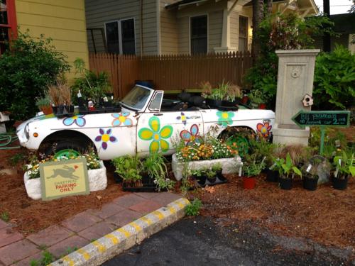 car planter MG