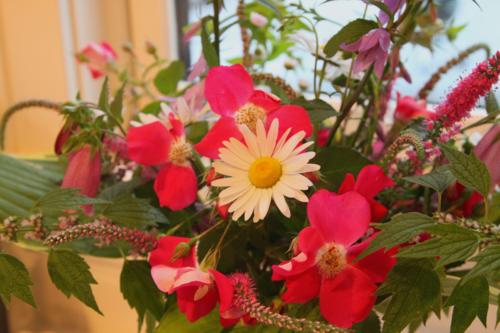 Garden flowers bouquet