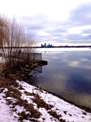 Ice out on Lake calhoun