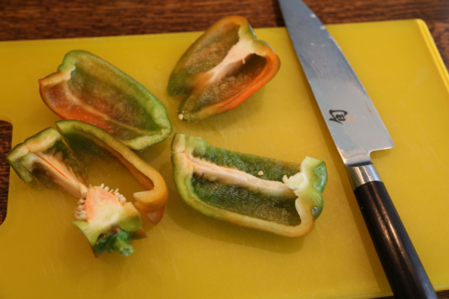 how to slice bell peppers