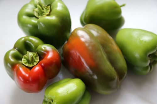 'Candy Apple' bell peppers from Burpee